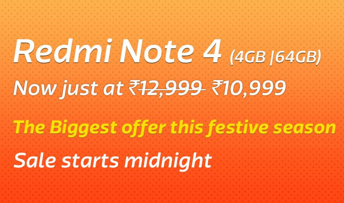 Redmi Note 4 4GB/64 GB | Rs.10999